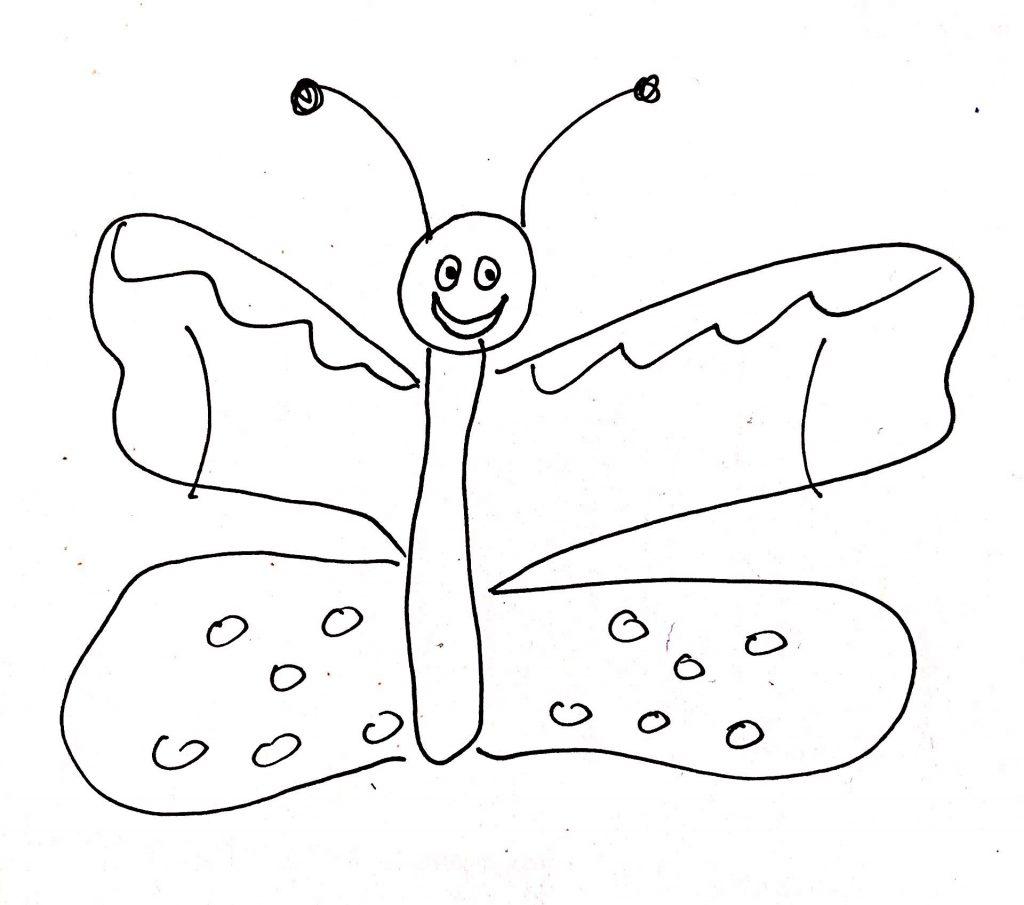 lachender Schmetterling